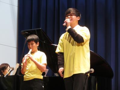 音楽部器楽班の演奏の様子