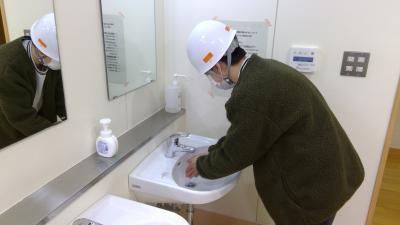 実施後の手洗い