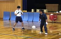 普通科生徒2名の練習風景