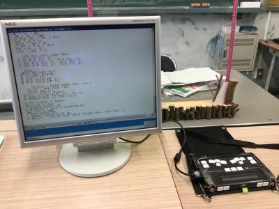 授業での点字ディスプレイの活用の様子